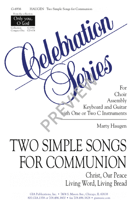 Two Simple Songs for Communion: