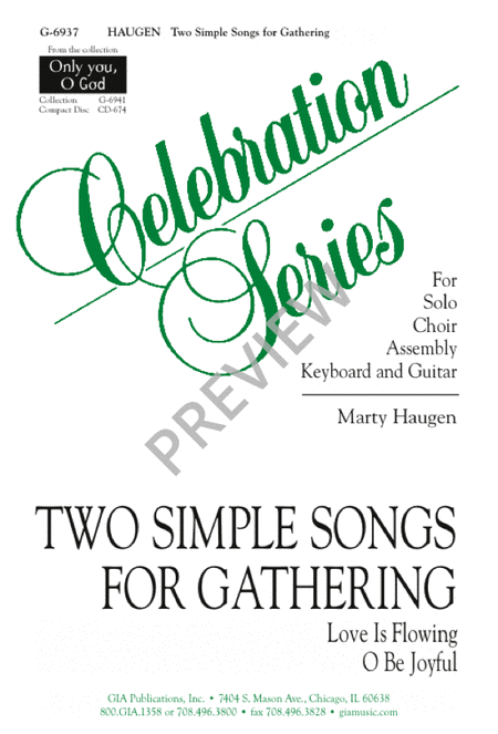 Two Simple Songs for Gathering: