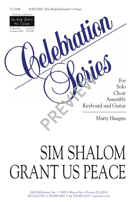 Sim Shalom / Grant Us Peace