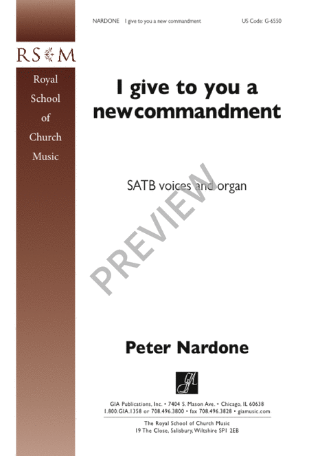 I Give to You a New Commandment