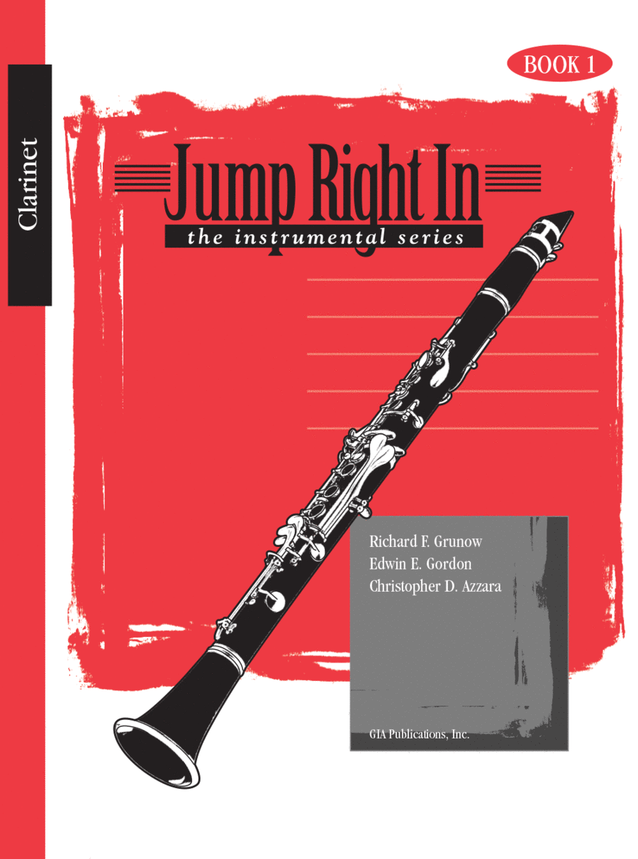 Jump Right In: The Instrumental Series - Clarinet Book 1 and CD