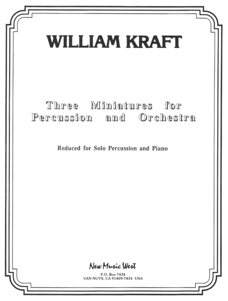 Three Miniatures for Percussion and Orchestra