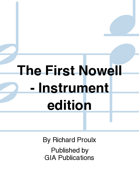 The First Nowell - Instrument edition