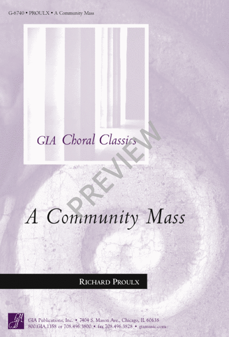 A Community Mass - Choral and Organ Edition