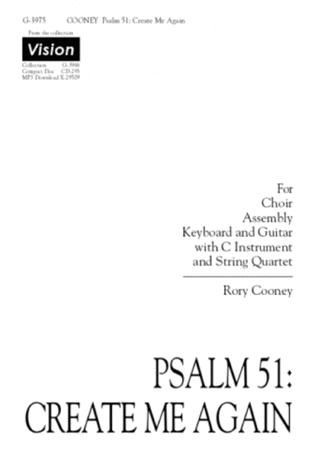 Psalm 51: Create Me Again - Instrument