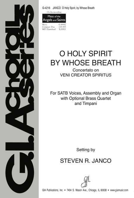 O Holy Spirit, by Whose Breath (Instrumental Parts)
