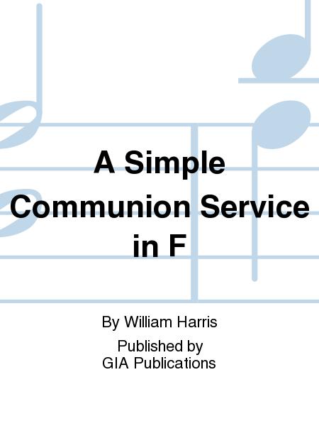 A Simple Communion Service in F
