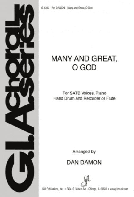 Many and Great, O God (Instrumental part)