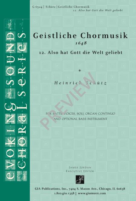 Also hat Gott die Welt geliebt (from Geistliche Chormusik)