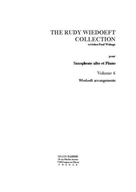 Wiedoeft Collection, Volume 6 - Wiedoeft Arrangements