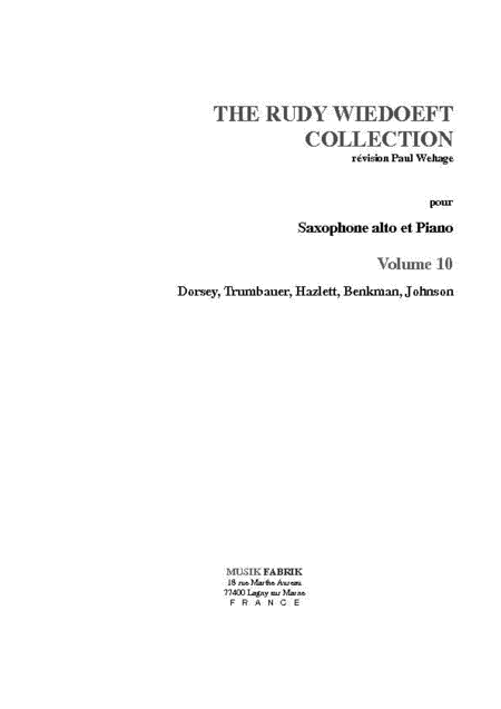 Wiedoeft Collection, Volume 10 - Dorsey et al.