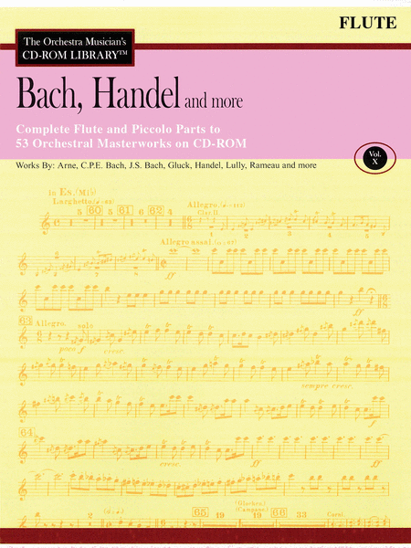 Bach, Handel and More - Volume X (Flute)