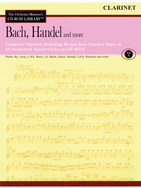 Bach, Handel and More - Volume X (Clarinet)