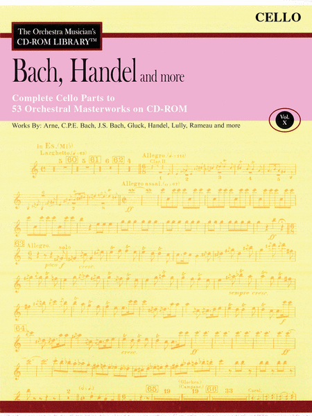 Bach, Handel and More - Volume X (Cello)