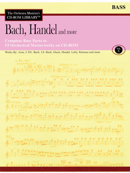 Bach, Handel and More - Volume X (Double Bass)