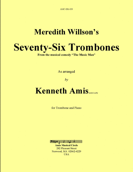 Seventy-Six Trombones (trombone and piano)