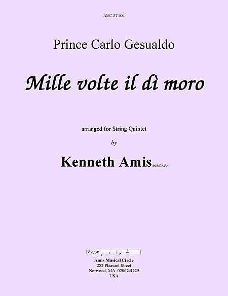 Mille volte il di moro (for string quintet)