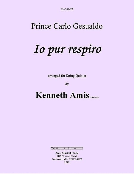 Io pur respiro, for string quintet