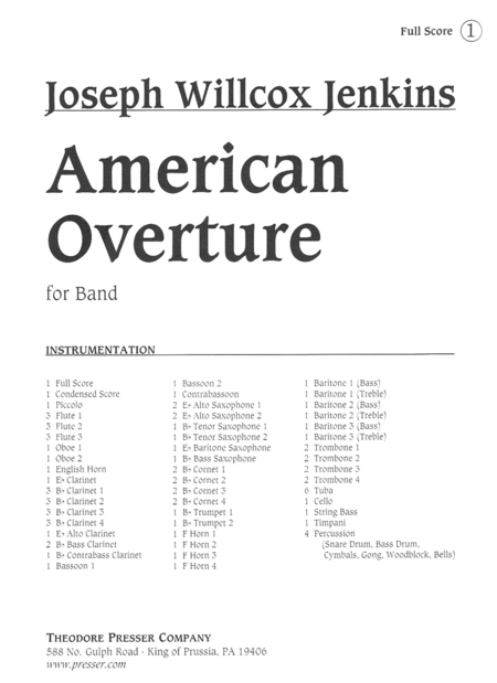 American Overture for Band