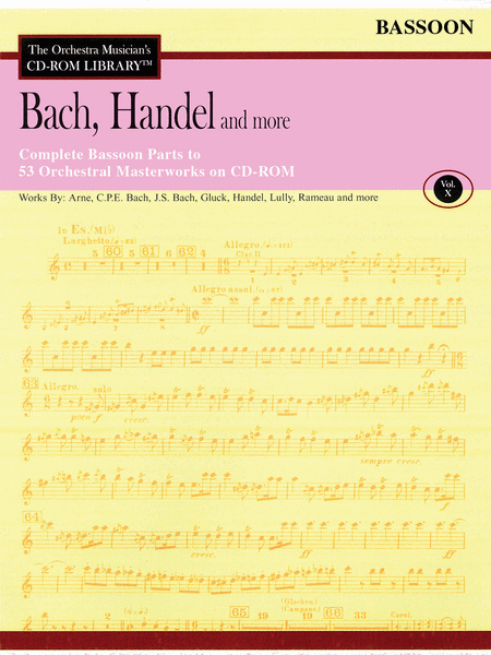 Bach, Handel and More - Volume X (Bassoon)