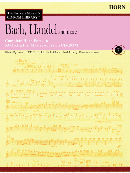 Bach, Handel and More - Volume X (Horn)