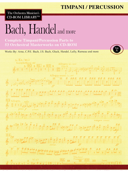 Bach, Handel and More - Volume X (Timpani/Percussion)