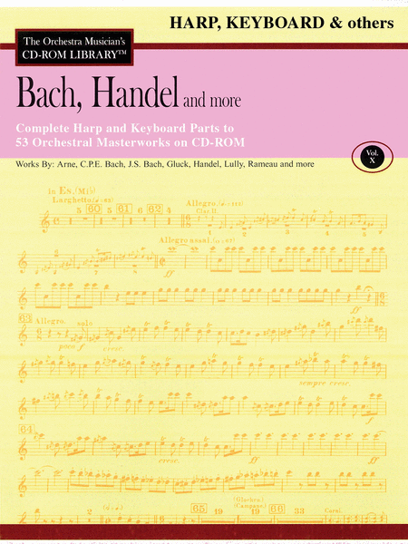 Bach, Handel and More - Volume X (Harp/Keyboard/Auxiliary)