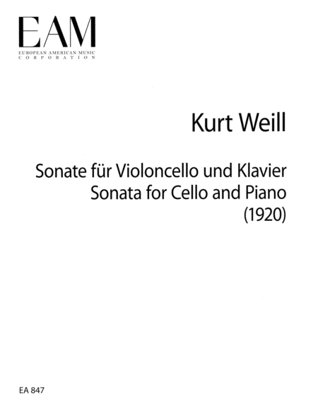 Sonata for Cello and Piano (1920)