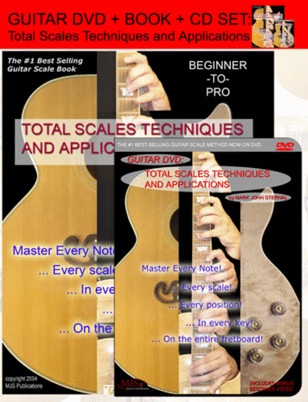 Guitar: Total Scales Techniques and Applications (Book, DVD, and CD)