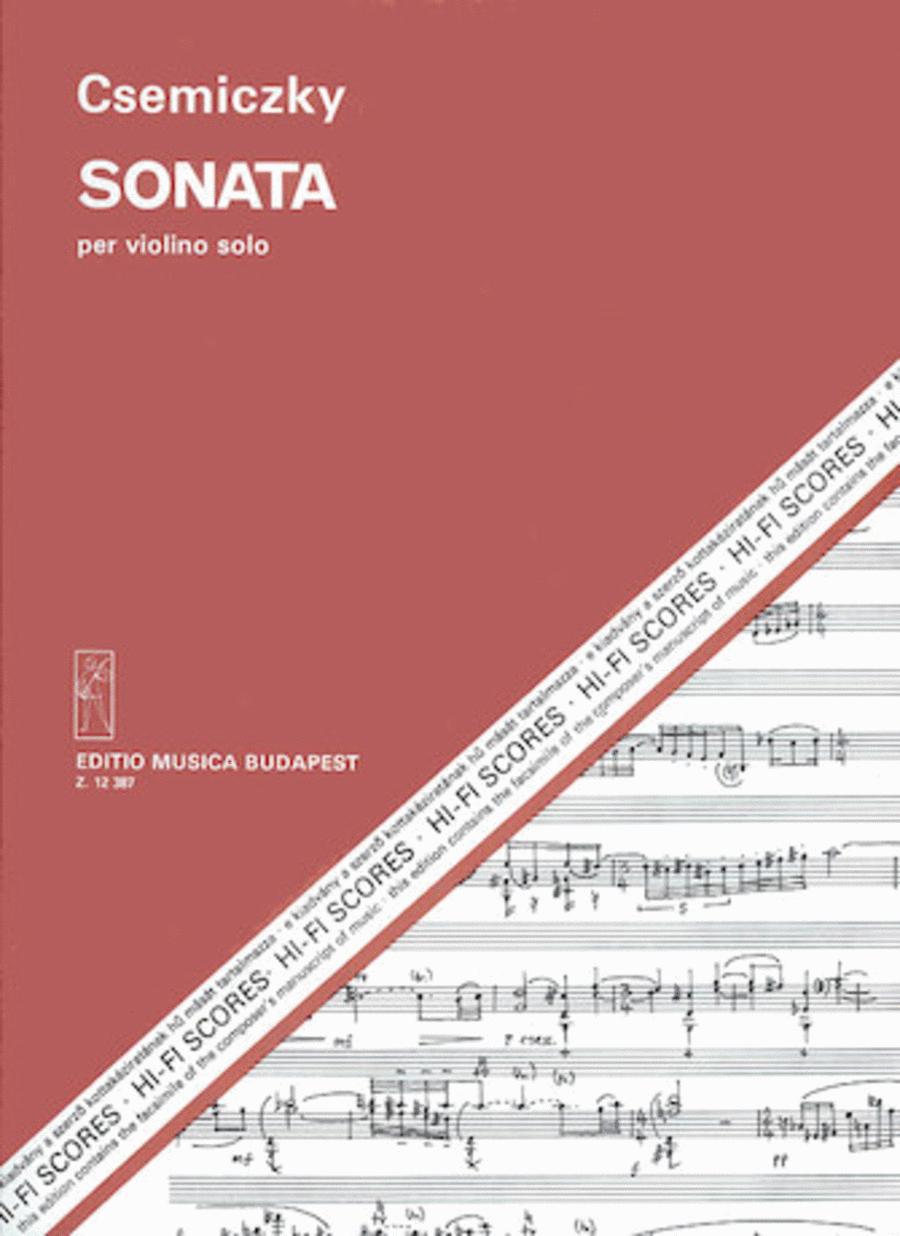 Sonata per violino solo
