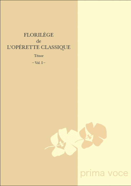 Florilege de l'Operette Classique: Tenor, Volume I