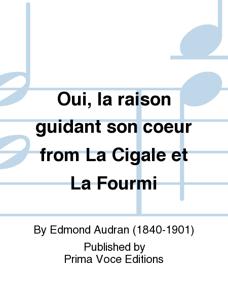 Oui, la raison guidant son coeur from La Cigale et La Fourmi