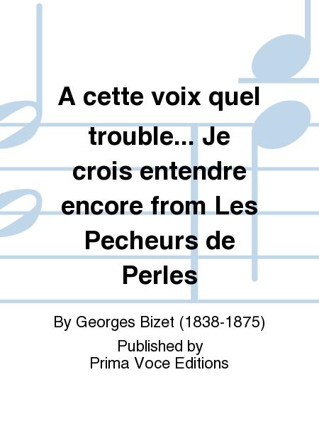 A cette voix quel trouble... Je crois entendre encore from Les Pecheurs de Perles