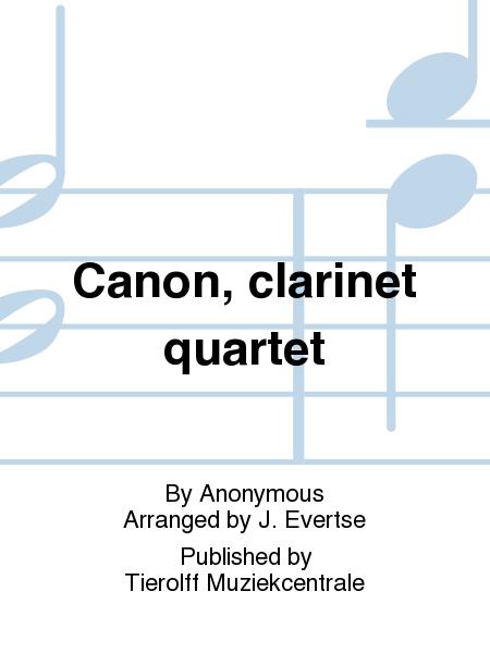 Canon, clarinet quartet