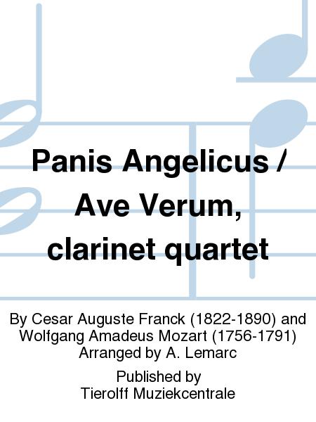 Panis Angelicus / Ave Verum, clarinet quartet