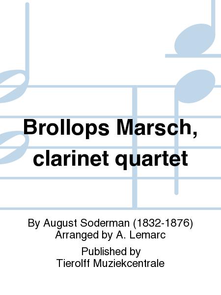 Brollops Marsch, clarinet quartet