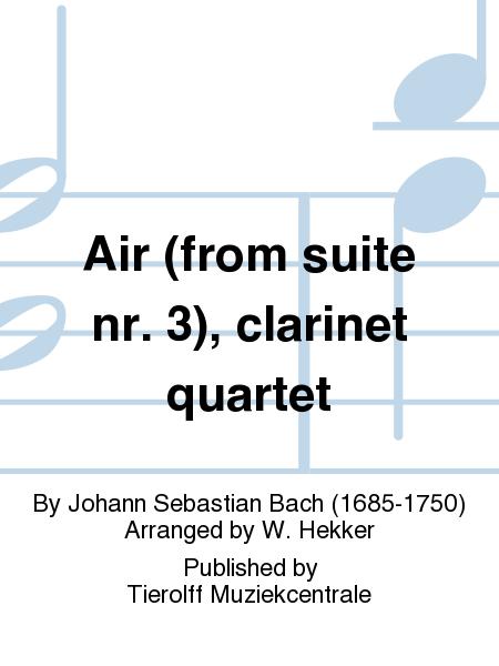 Air (from suite nr. 3), clarinet quartet