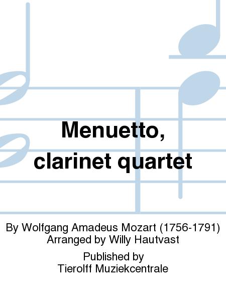 Menuetto, clarinet quartet