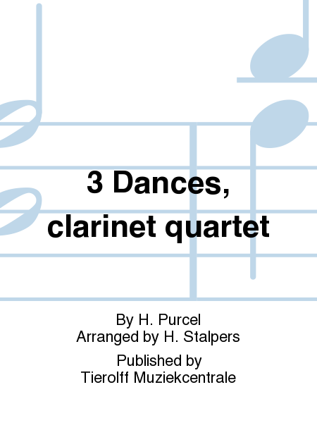 3 Dances, clarinet quartet