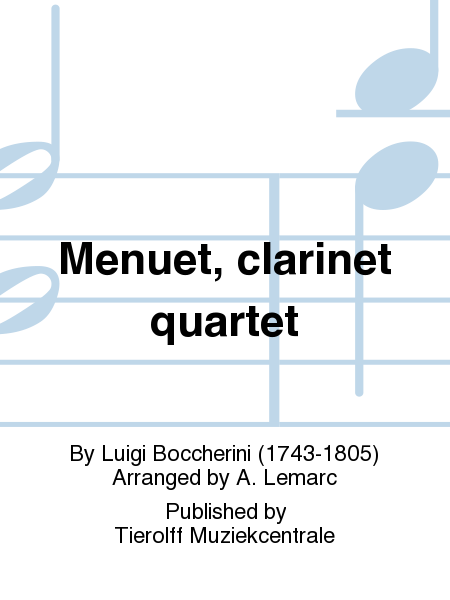Menuet, clarinet quartet