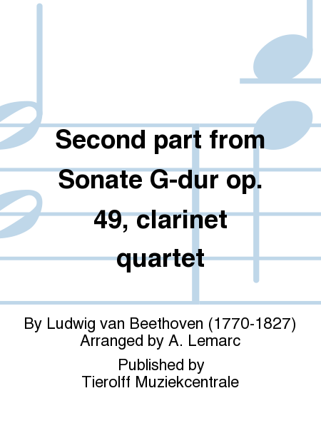 Second part from Sonate G-dur op. 49, clarinet quartet