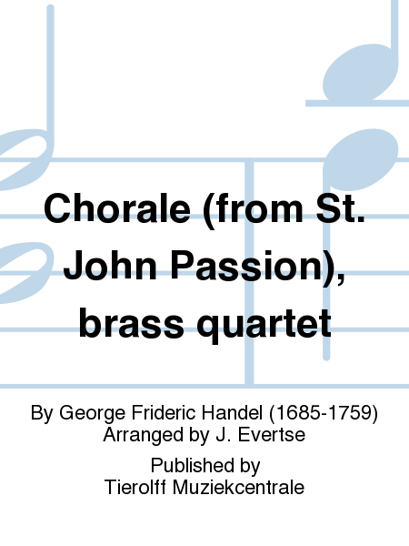 Chorale (from St. John Passion), brass quartet