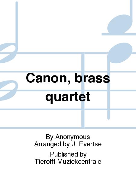 Canon, brass quartet