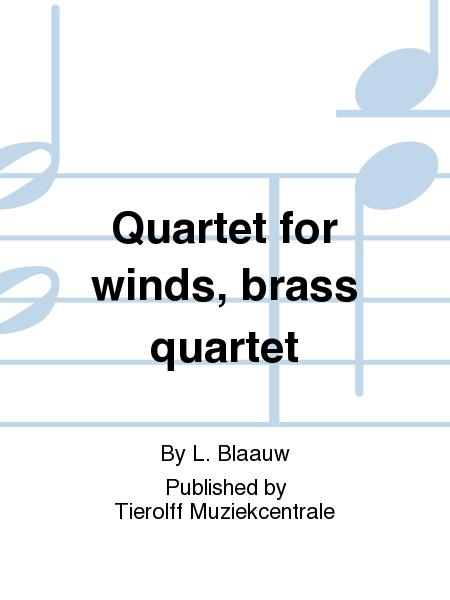 Quartet for winds, brass quartet