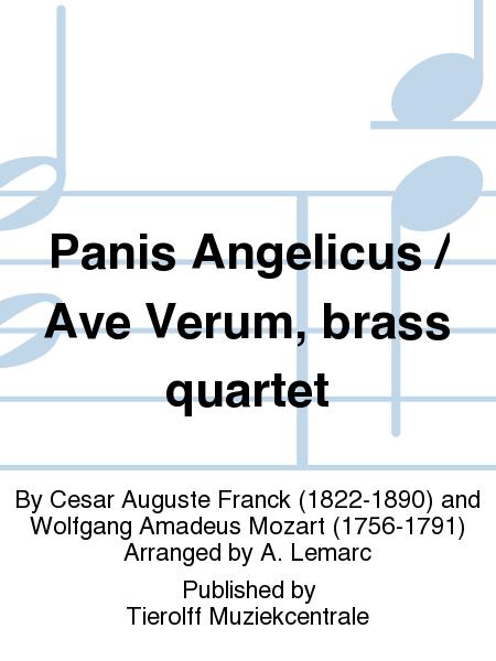 Panis Angelicus / Ave Verum, brass quartet