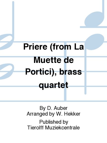 Priere (from La Muette de Portici), brass quartet