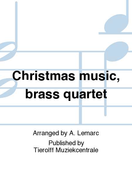 Christmas music, brass quartet