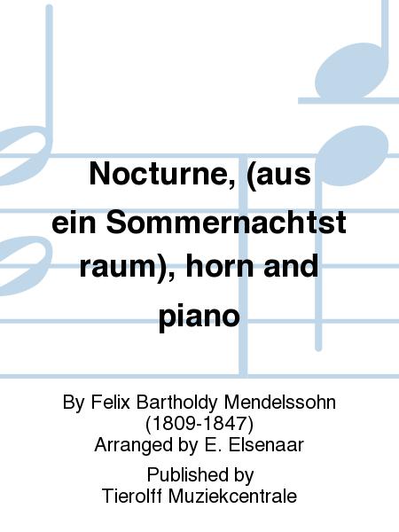 Nocturne, (aus ein Sommernachtstraum), horn and piano