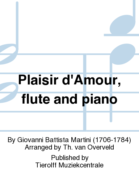 Plaisir d'Amour, flute and piano
