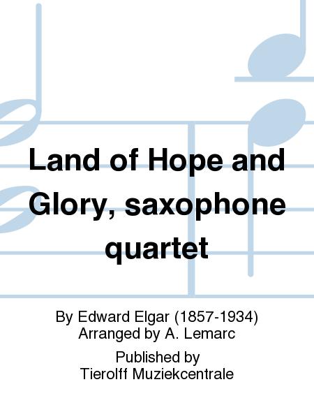 Land of Hope and Glory, saxophone quartet